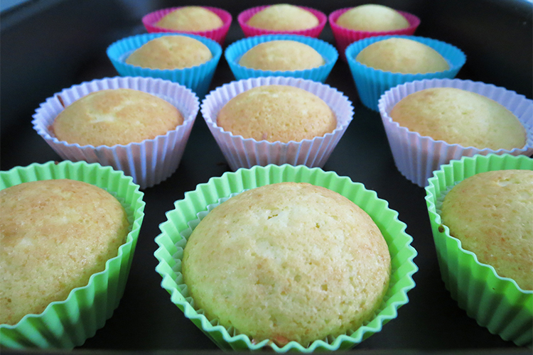 Cupcakes assados