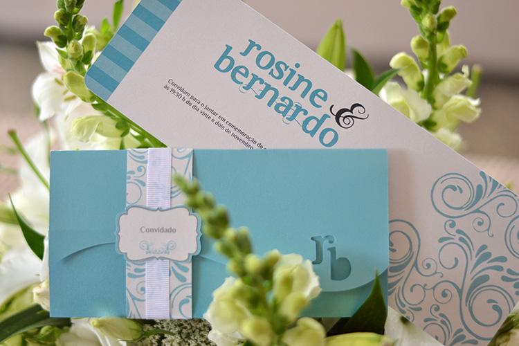 Convite casamento azul tiffany