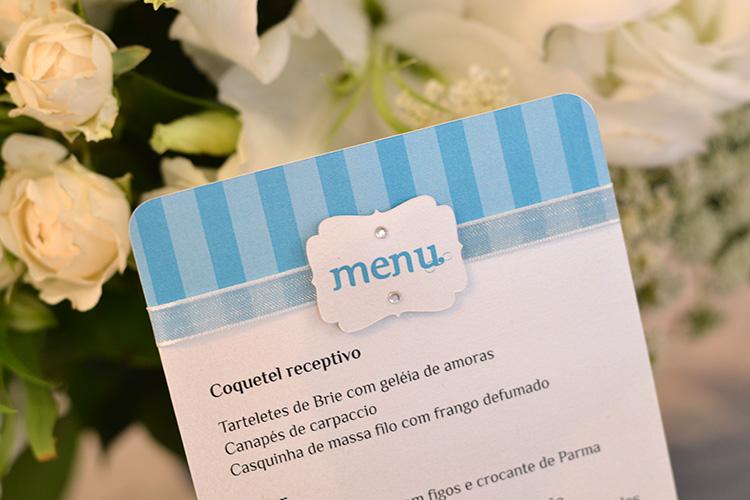 Detalhe aplique menu