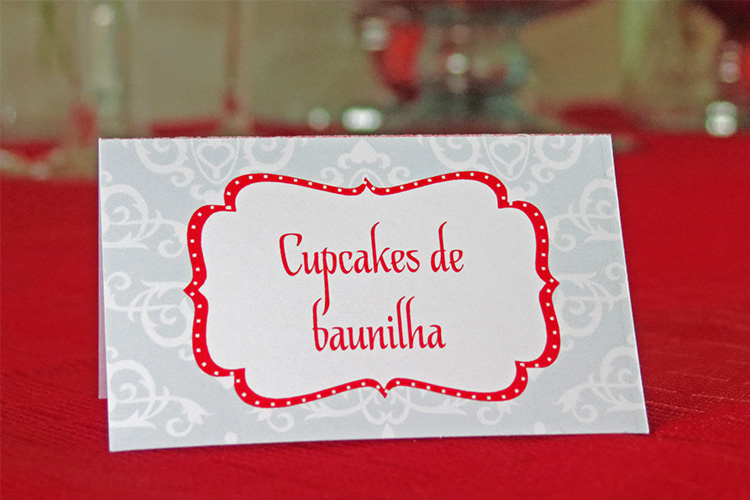 Plaquinha buffet  cupcakes
