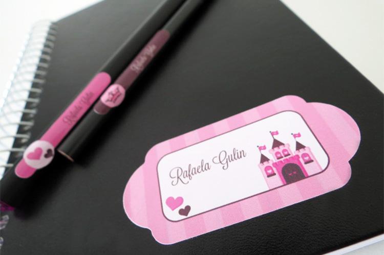 Etiqueta e lápis