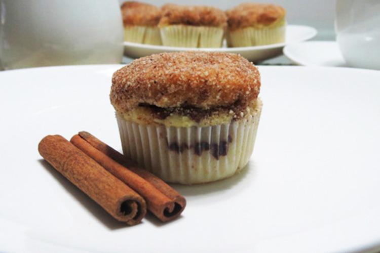 Muffin de Nutella com canela
