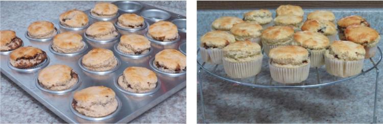 Muffins assados