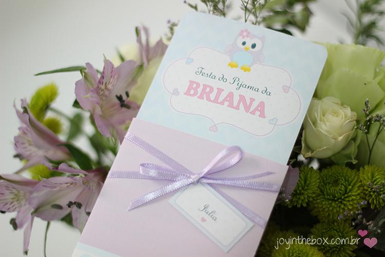 Convite Festa do Pijama 2