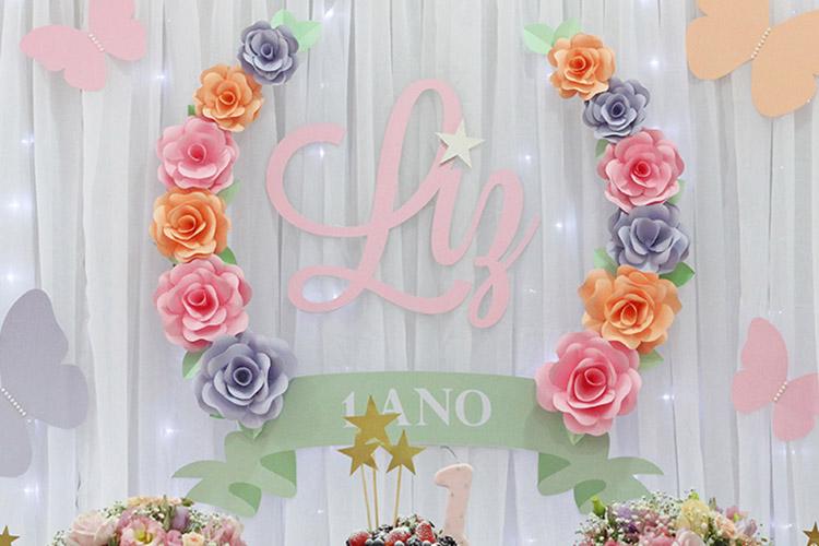 Painel flor de papel